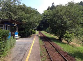 小湊鉄道「飯給駅」。ここに「世界一大きなトイレ」がある。本当に世界一かどうかは知らないが・・・