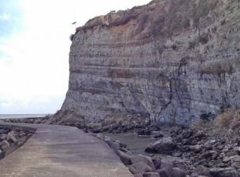 大原の断崖絶壁