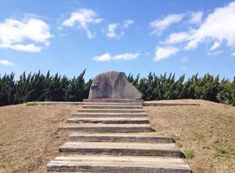 九十九里町の「智恵子抄」石碑。高村光太郎の妻・智恵子は九十九里町の出身だった。