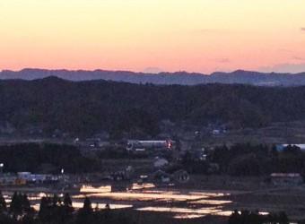 房総半島から望む富士山(その5)。いすみ市の万木城跡から。ここに戦国時代の山城があった。