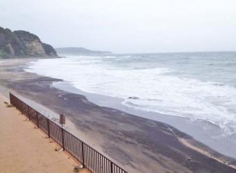 勝浦の部原ビーチ。サーフィンの聖地と呼ばれているらしい。