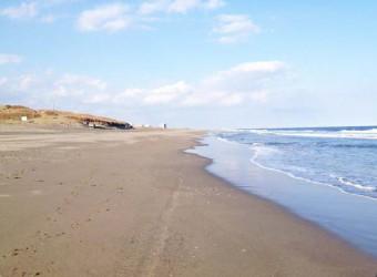 九十九里浜の一松海岸。のどかで優しい。
