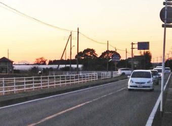 茂原から一松へ向かう県道からも富士山は見える。左端にちょっと写ってるのが分かりますか?